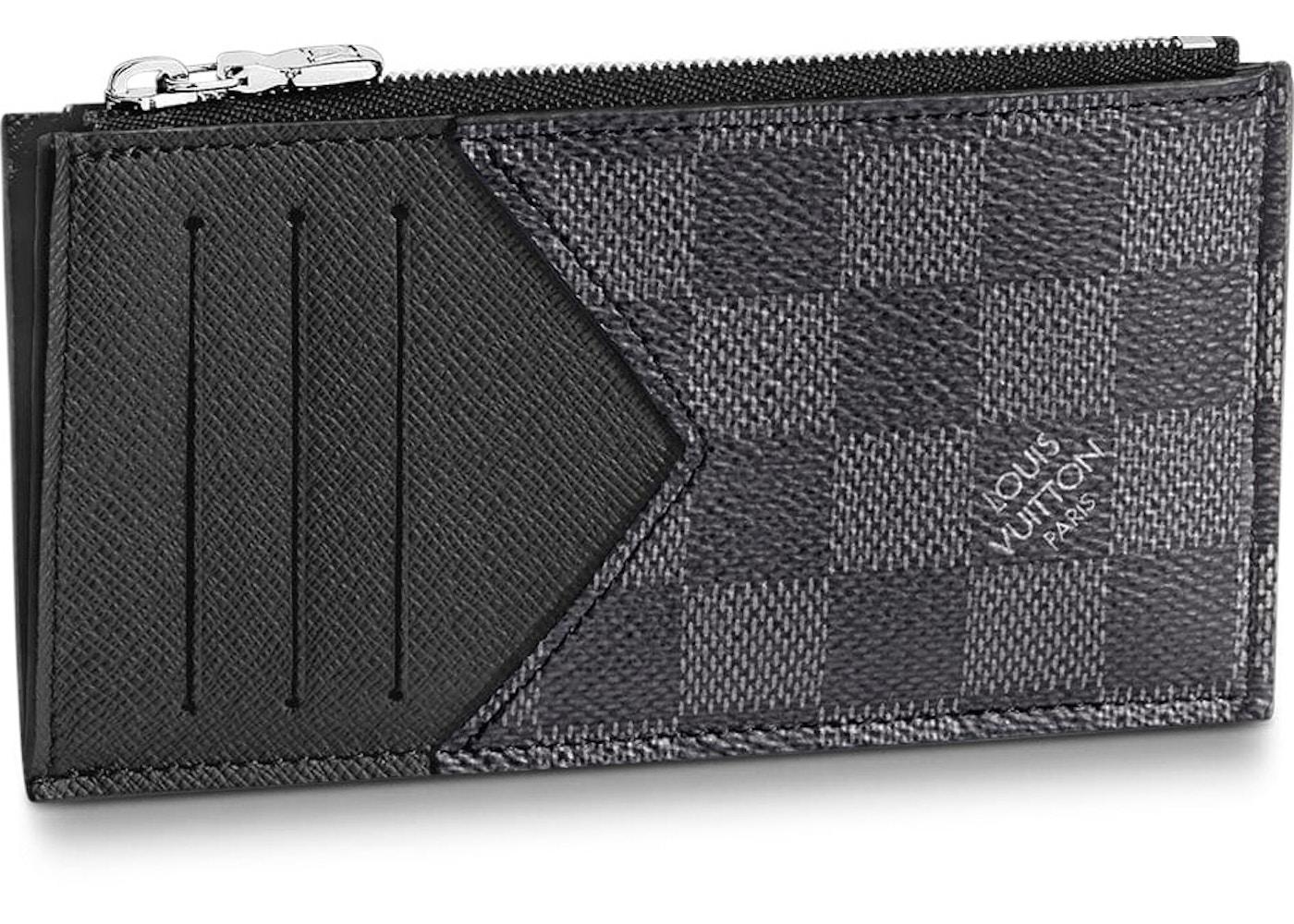 188b83104d99 Louis Vuitton Coin Card Holder Damier Graphite Grey Black. Damier Graphite  Grey Black