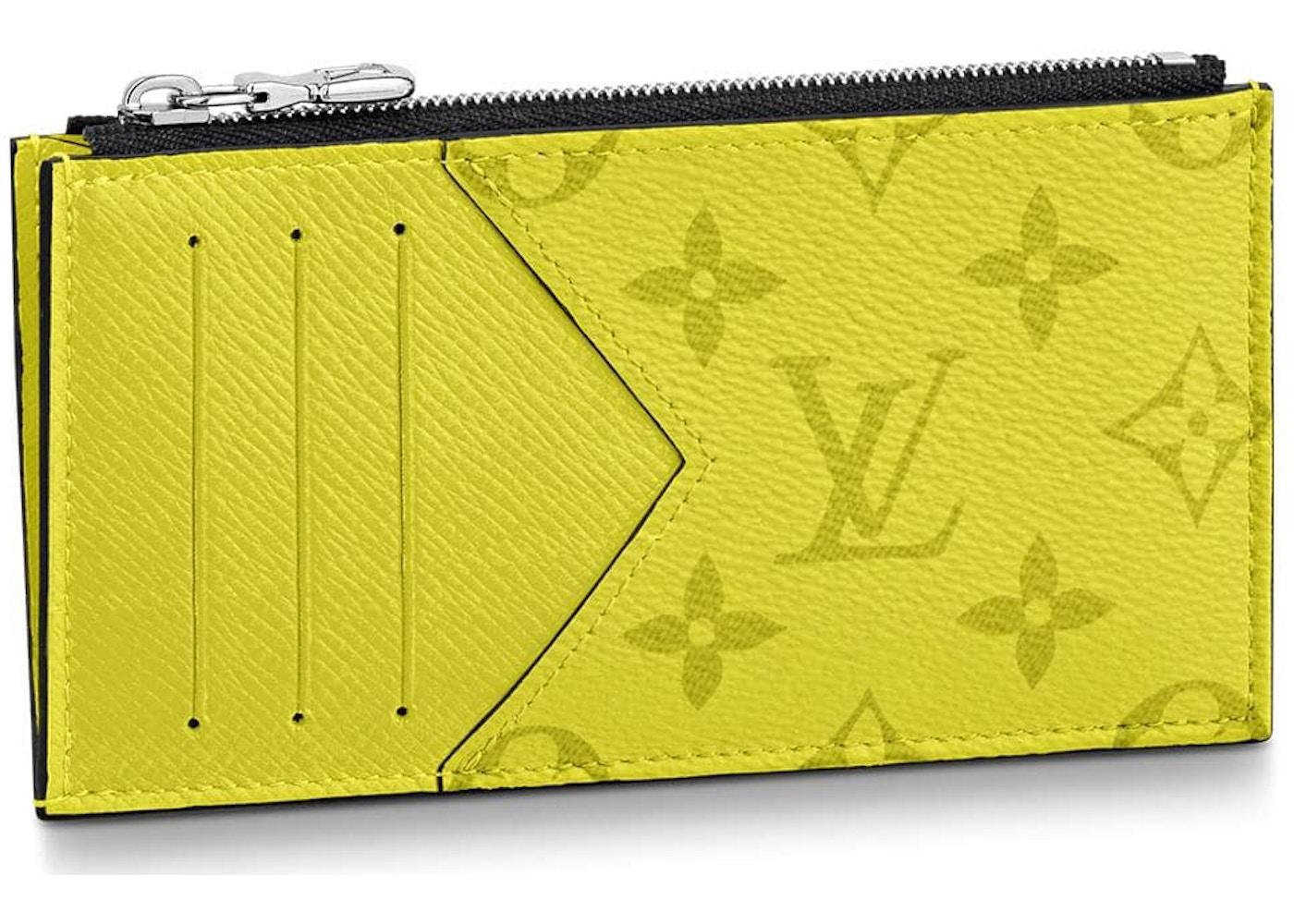 5673db2acf Louis Vuitton Coin Card Holder Monogram Bahia Yellow