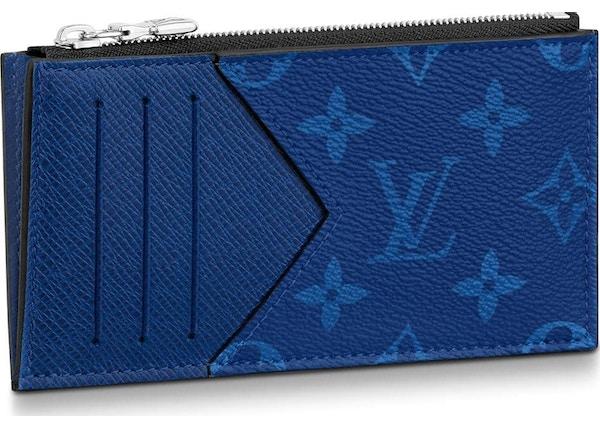 f83e67cc49c3 Louis Vuitton Coin Card Holder Monogram Pacific Taiga Blue