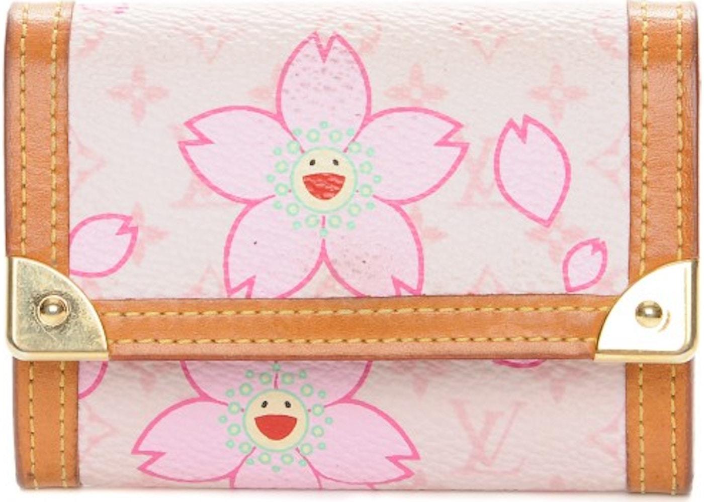 7c69717fdebd Louis Vuitton Coin Purse Porte Monnaie Plat Monogram Cherry Blossom Pink.  Monogram Cherry Blossom Pink