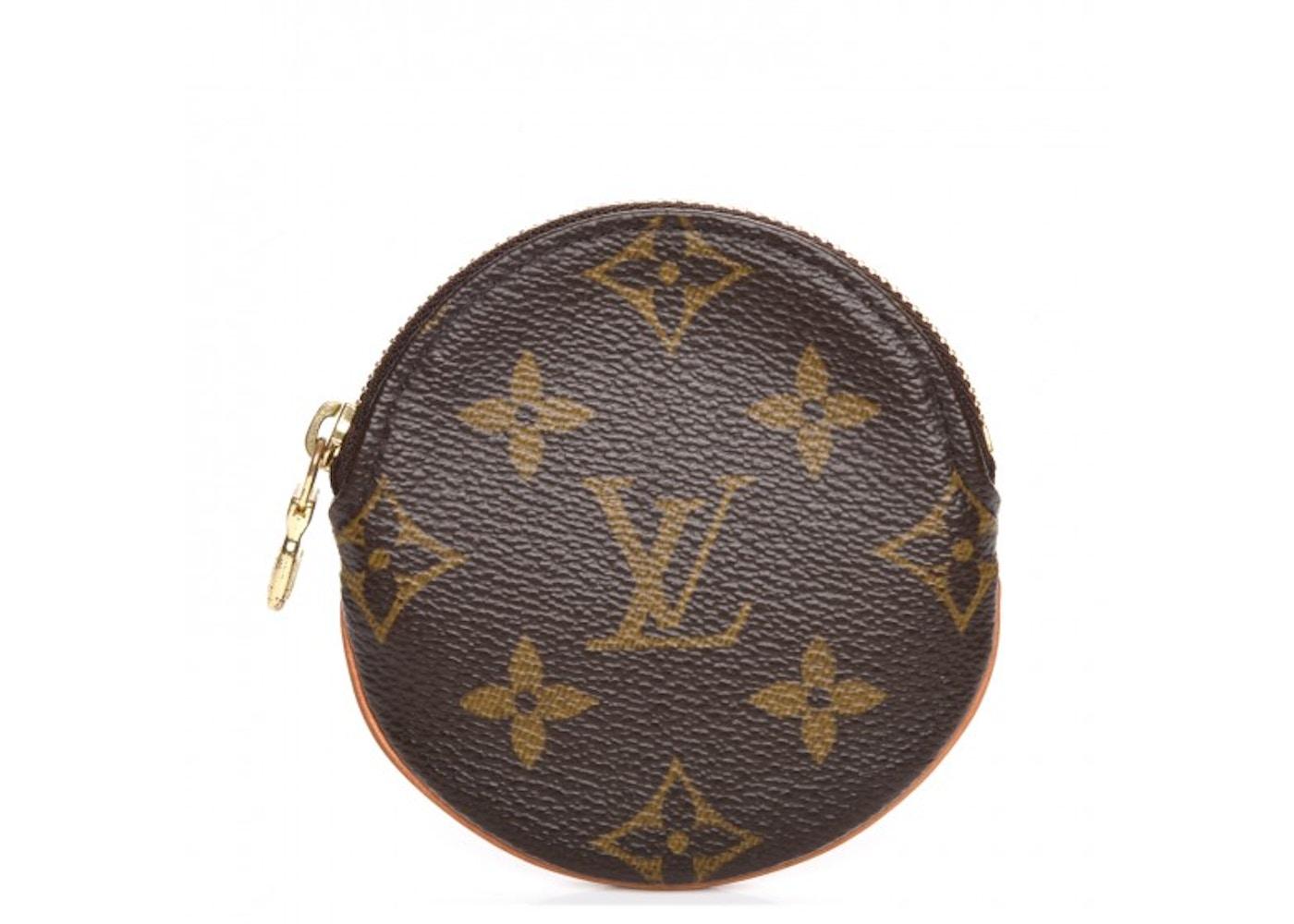 fef982d8ff0 Louis Vuitton Coin Purse Round Monogram Brown