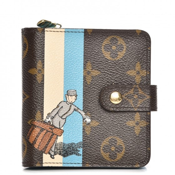 Louis Vuitton Compact Zip Wallet Groom Monogram