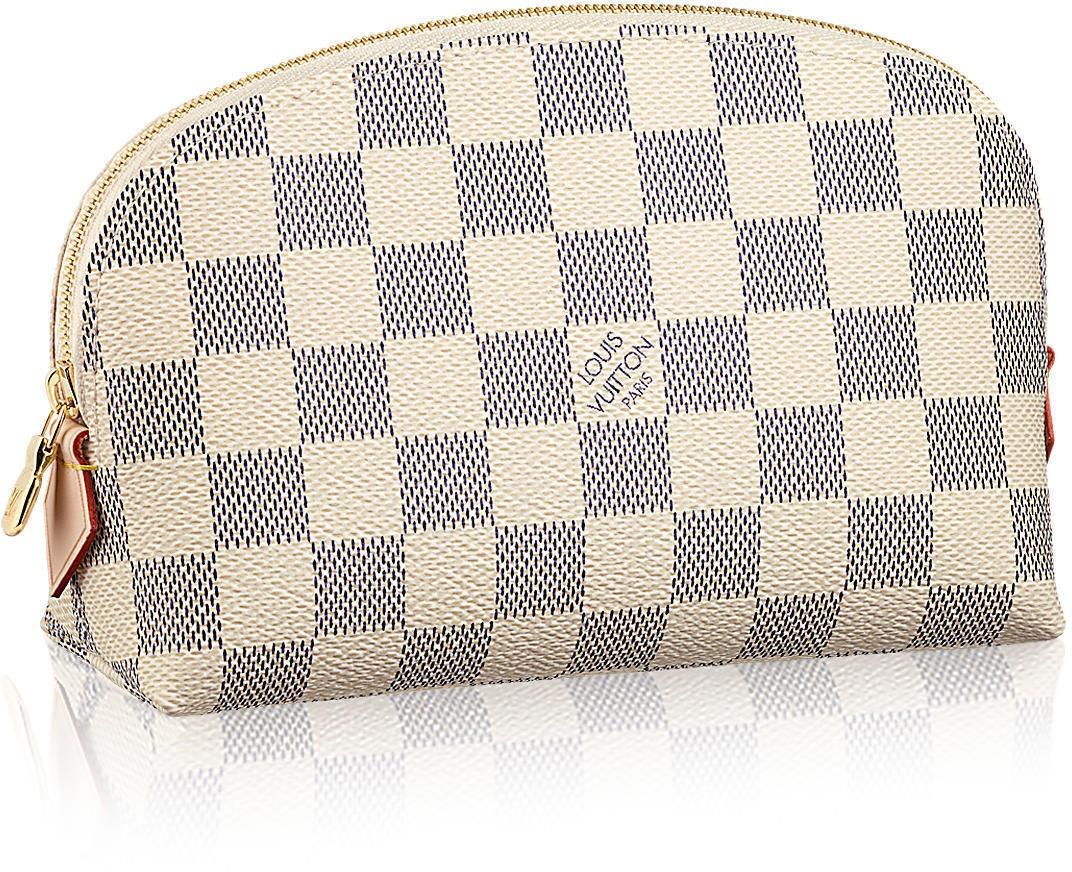 Louis Vuitton Cosmetic Pouch Damier Azur White