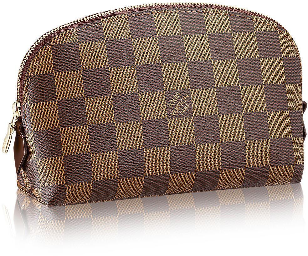 Louis Vuitton Cosmetic Pouch Damier Ebene Brown