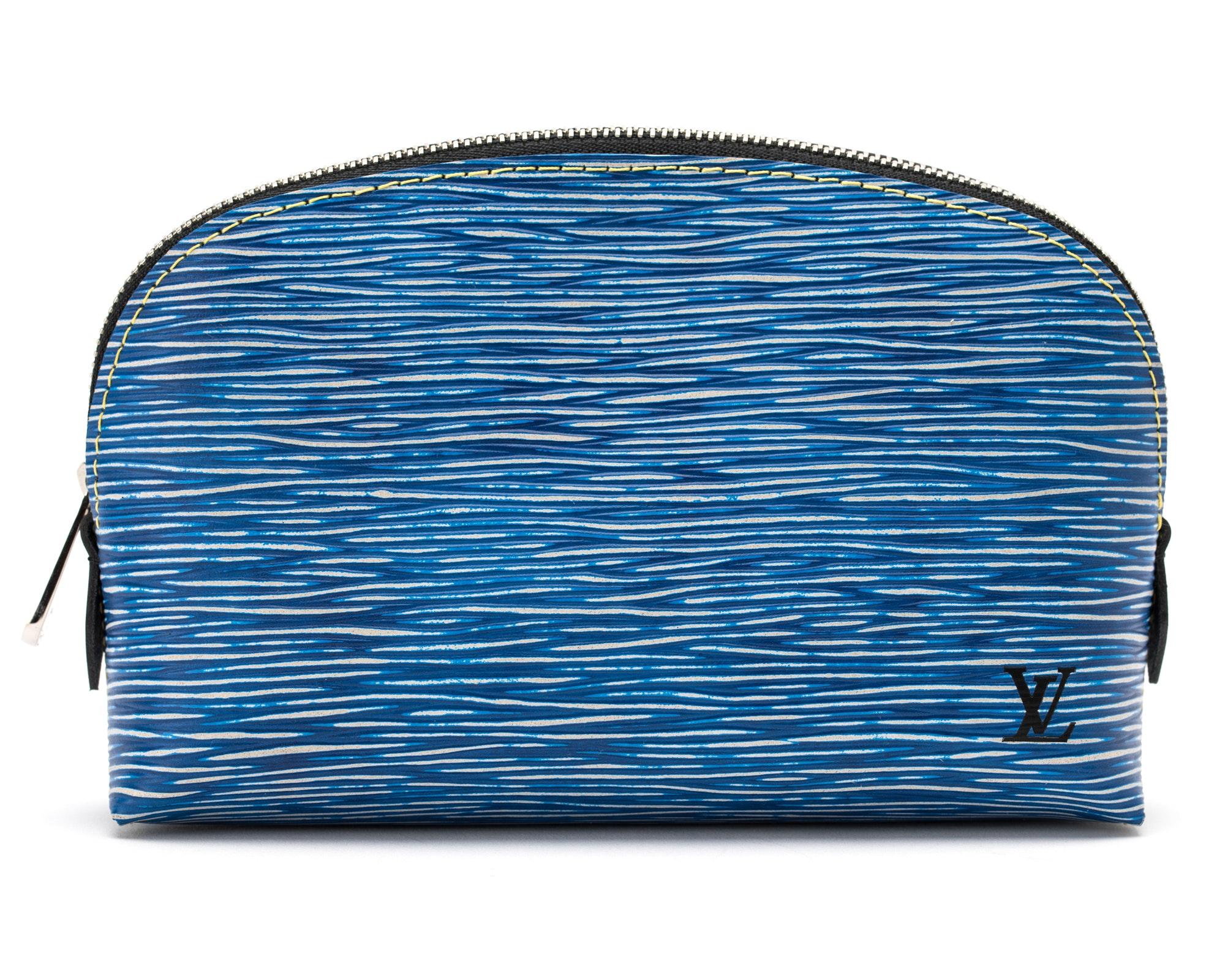 Louis Vuitton Cosmetic Pouch Epi Denim Blue