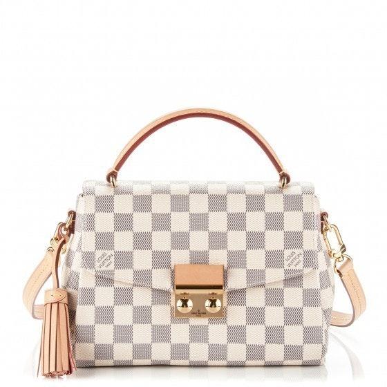 Louis Vuitton Croisette Pochette Damier Azur White