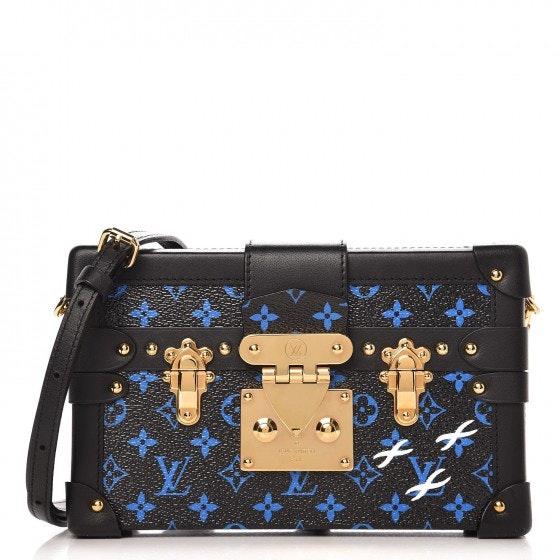 Louis Vuitton Crossbody Petite Malle Monogram With Accessories Bleu/Noir Black
