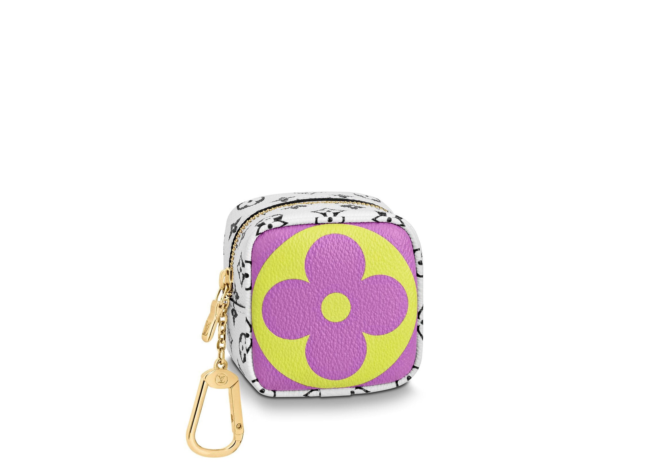 Louis Vuitton Cube Coin Purse Monogram Giant Pink/Lilac