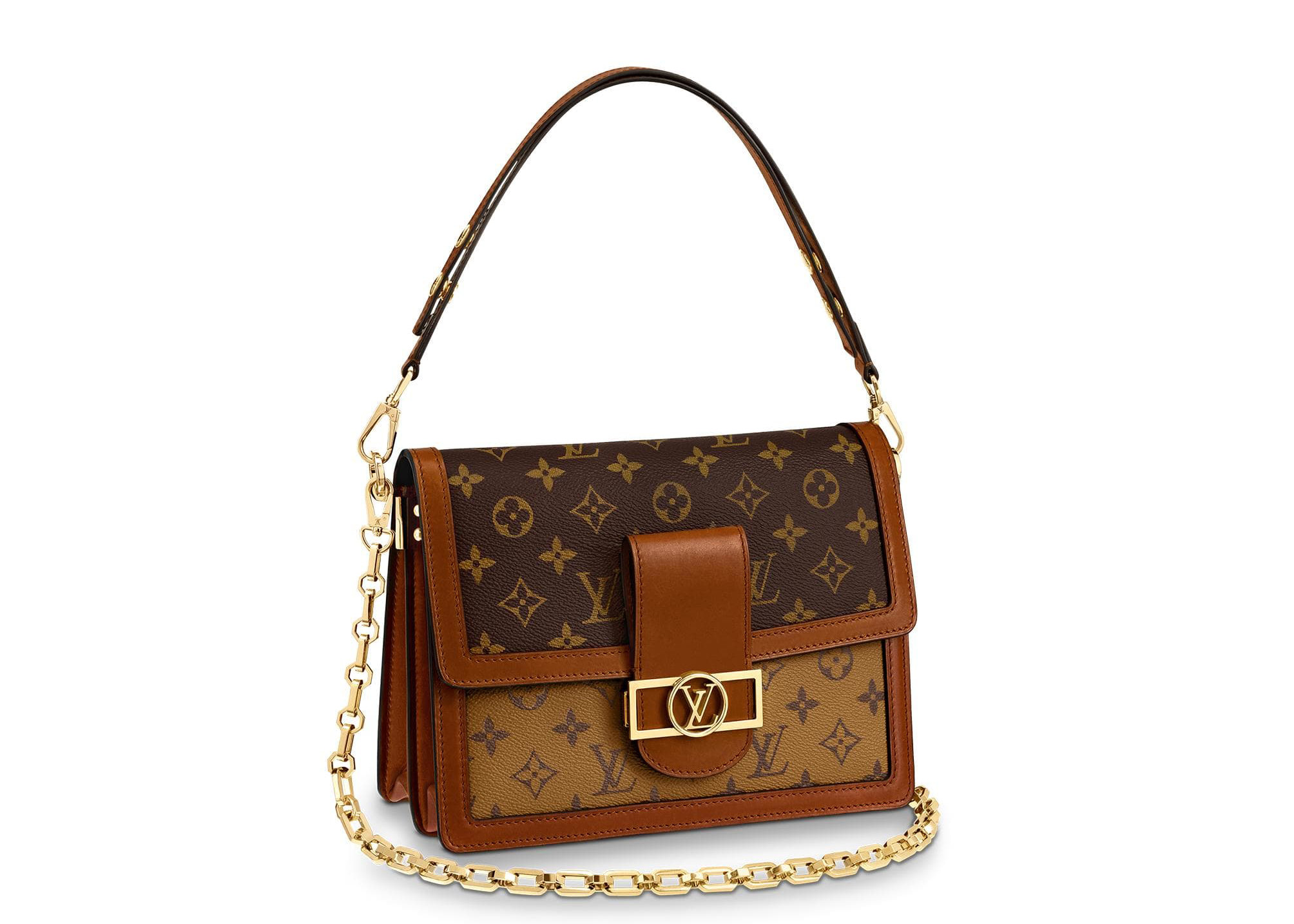 Louis Vuitton Dauphine Monogram Reverse Mm Brown