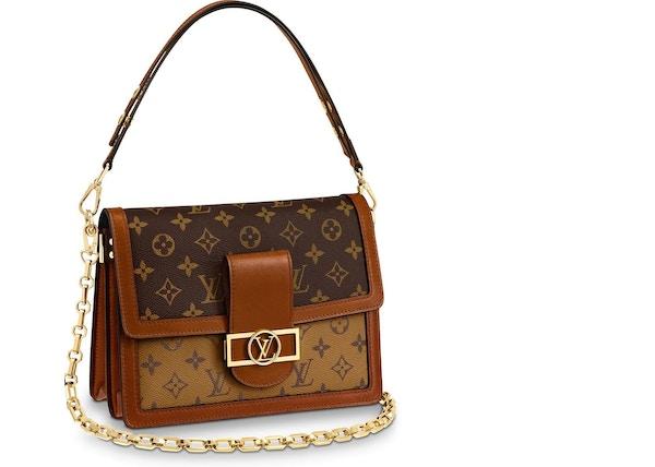 2611223ea896 Louis Vuitton Dauphine Monogram Reverse MM Brown