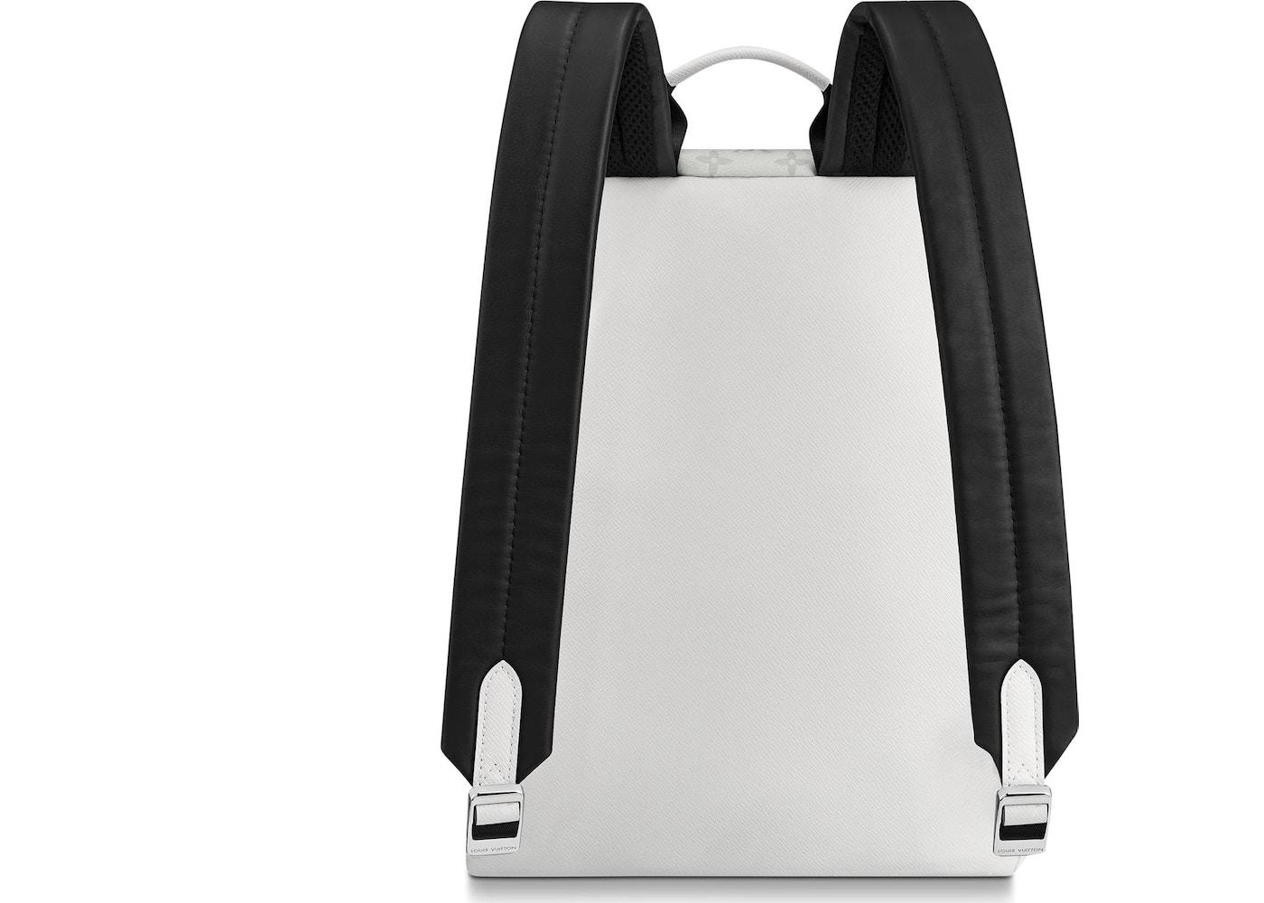 30a7ffec0d34 Louis Vuitton Discovery Backpack Monogram Antarctica Taiga PM White