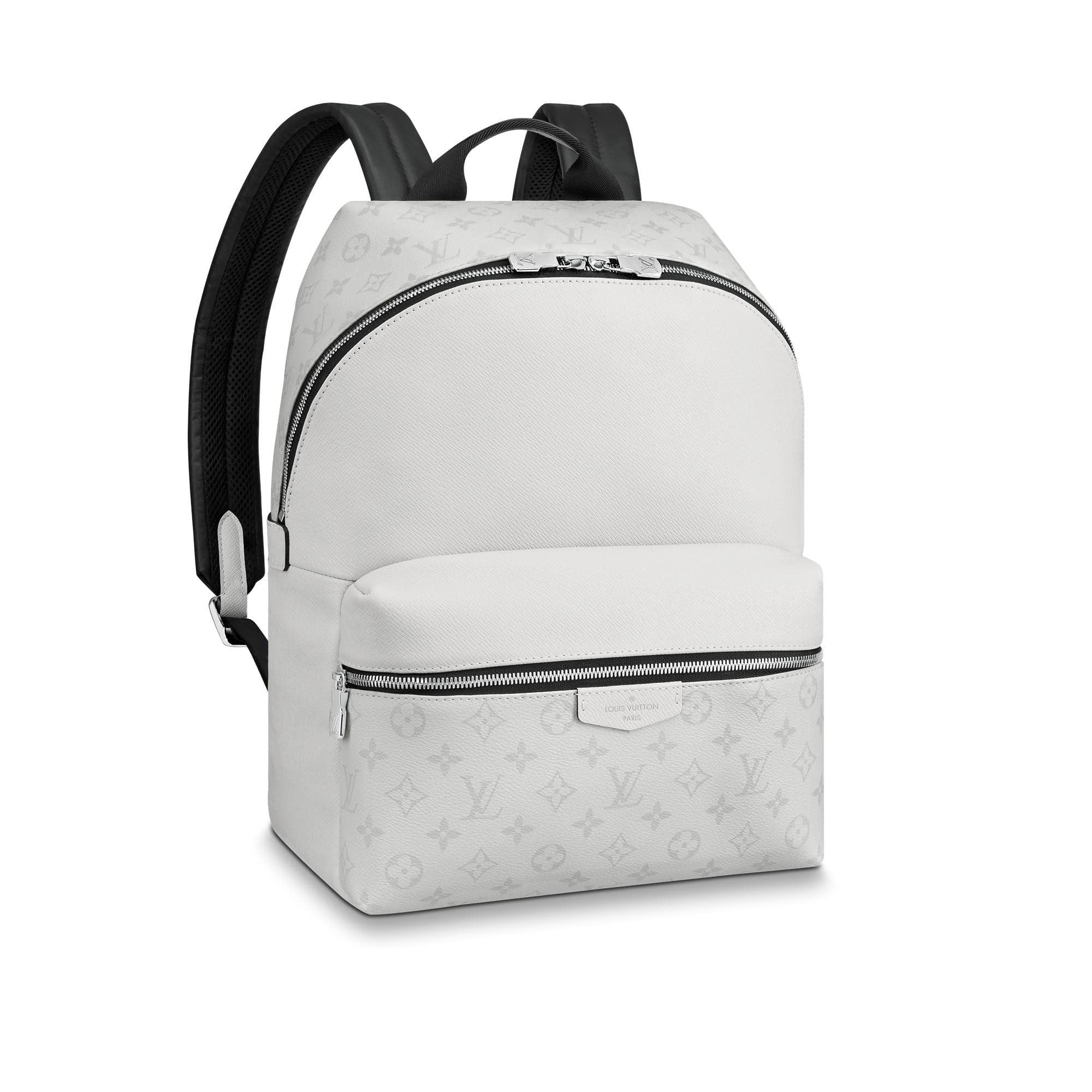 Louis Vuitton Discovery Backpack Monogram Antarctica Taiga PM White