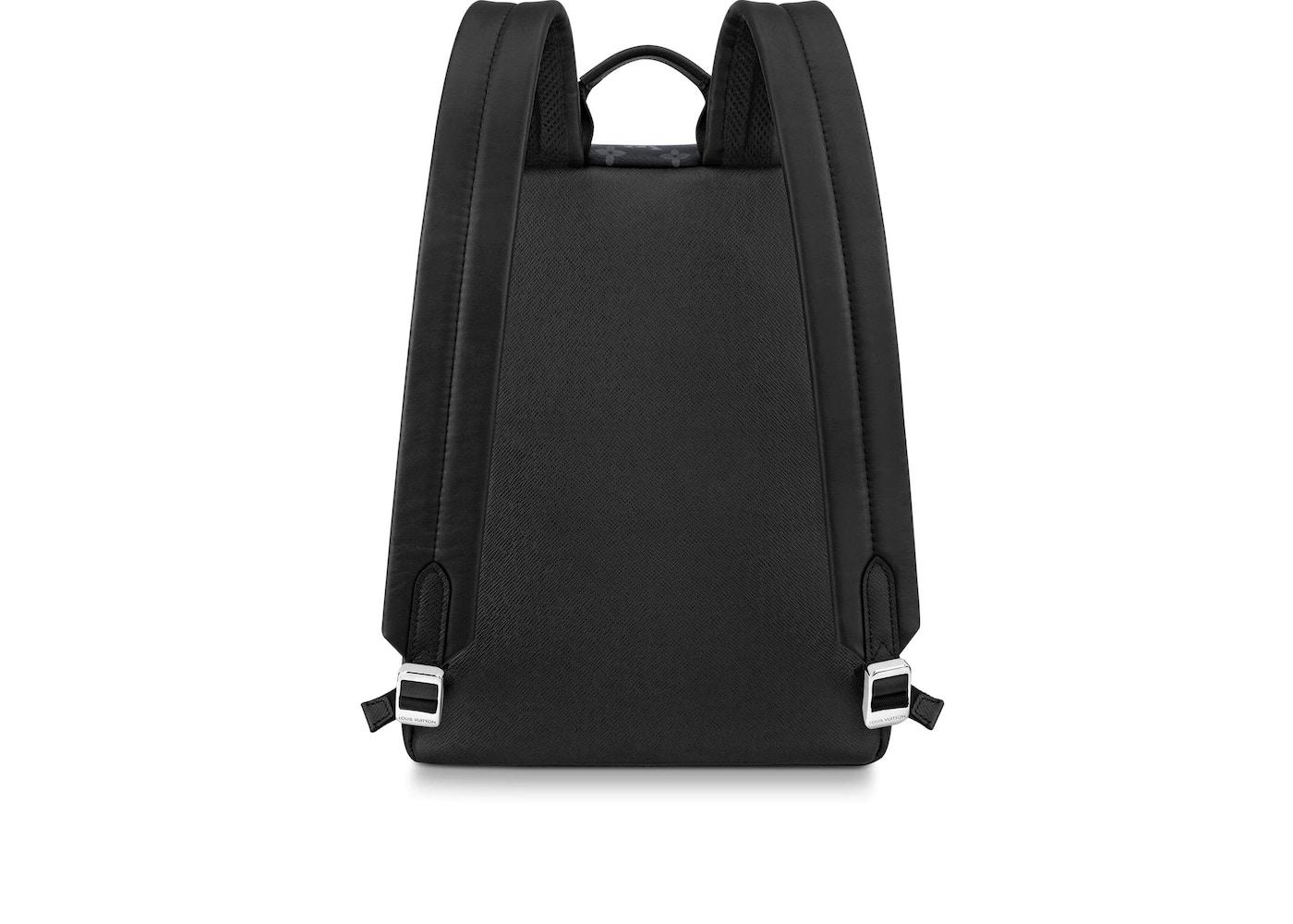 fb2b1910edca Louis Vuitton Discovery Backpack Monogram Eclipse Taiga PM Black