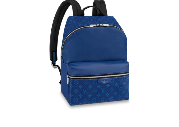 c5aa783bea1 Louis Vuitton Discovery Backpack Monogram Pacific Taiga PM Blue