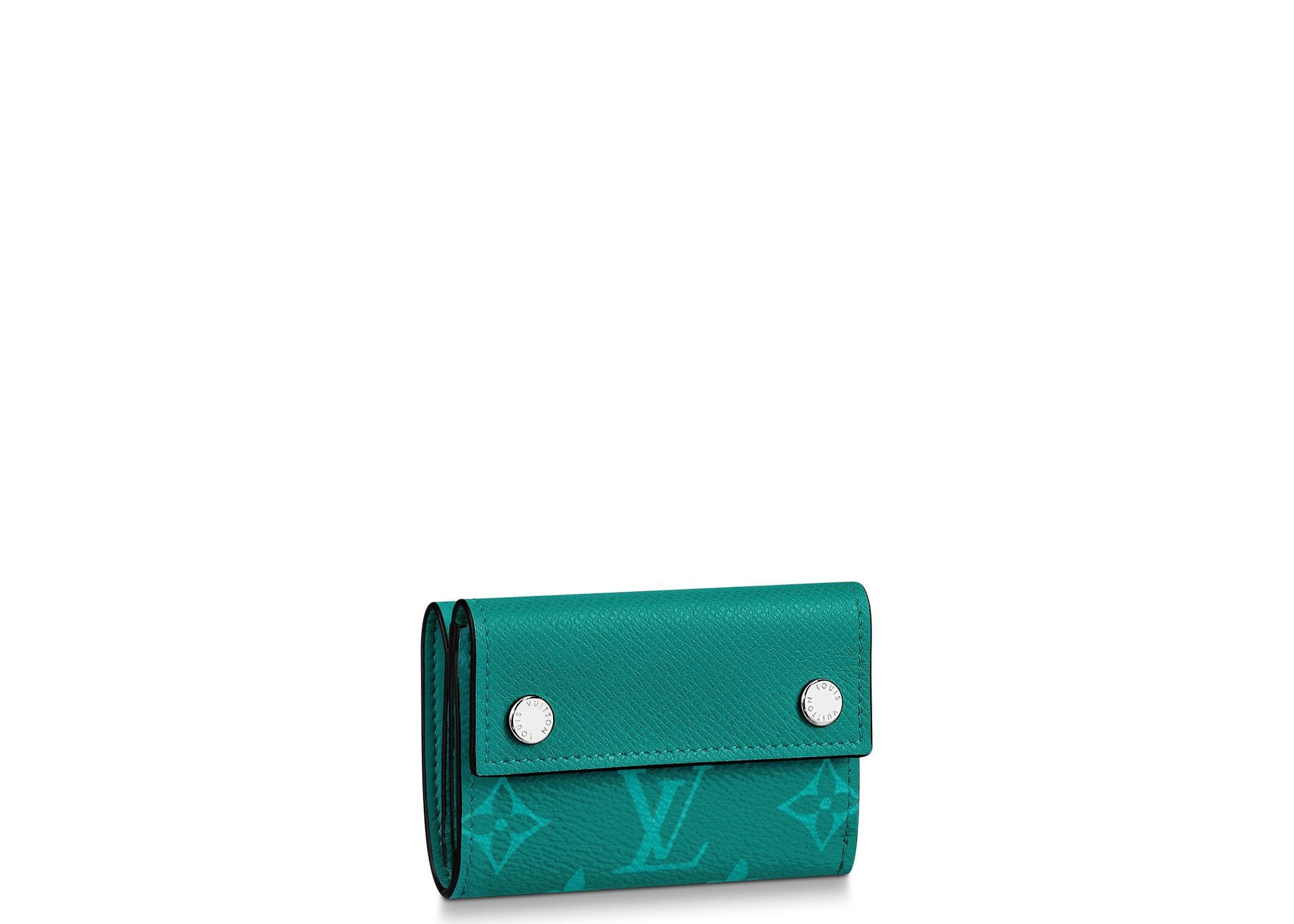 Louis Vuitton Discovery Compact Wallet Monogram Amazon Taiga Pine Green