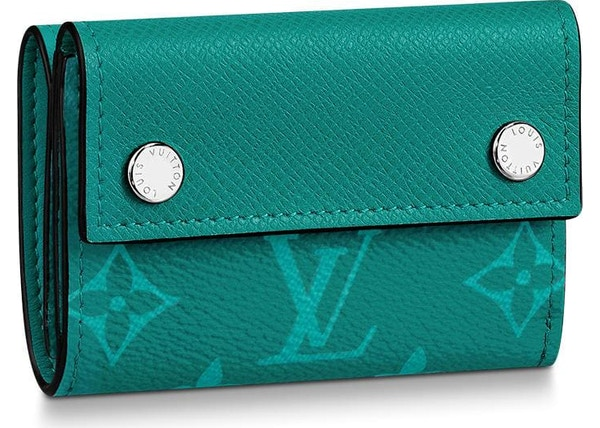 2c4107530b5a Louis Vuitton Discovery Compact Wallet Monogram Amazon Taiga Pine Green