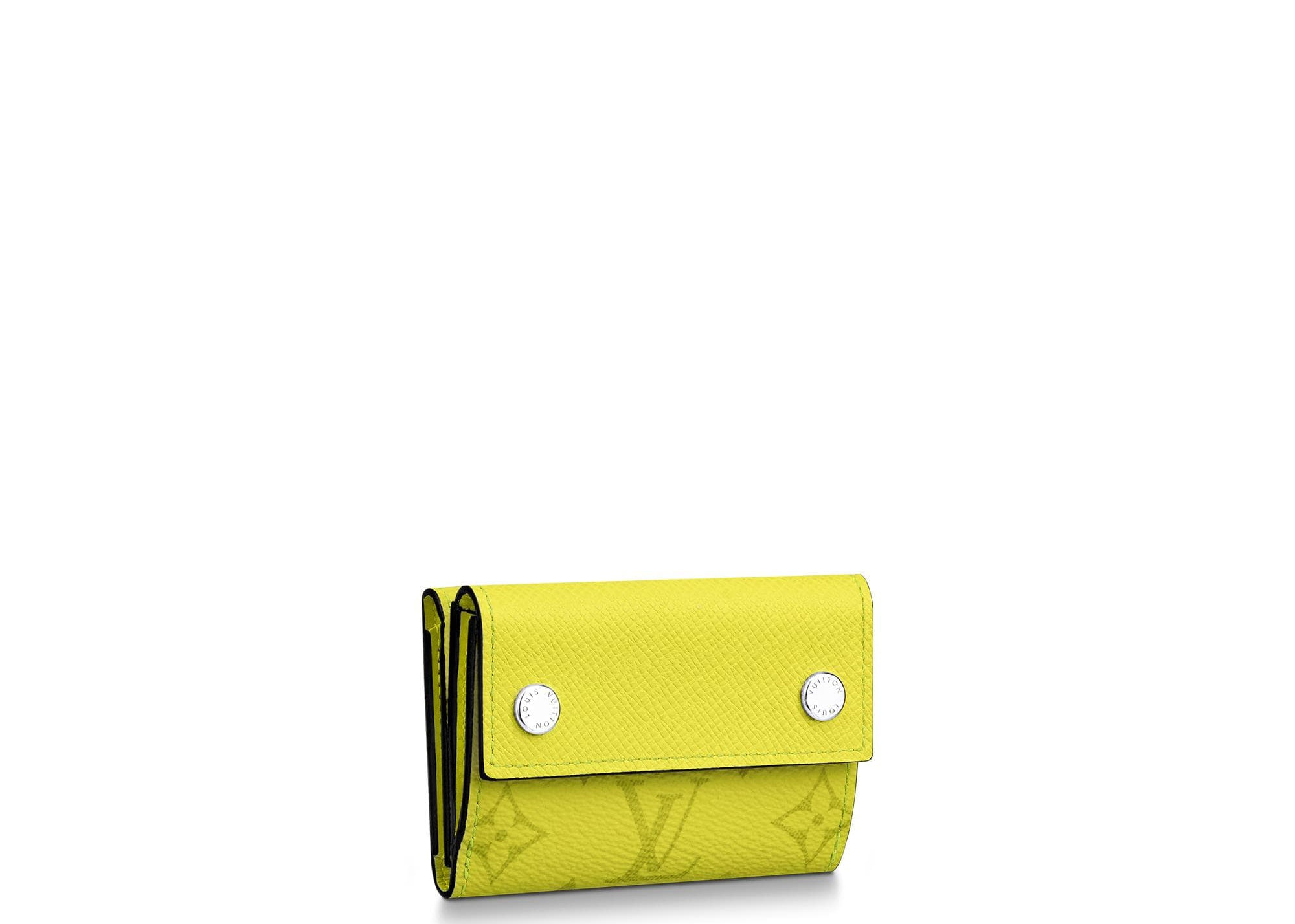 Louis Vuitton Discovery Compact Wallet Monogram Bahia Taiga Yellow