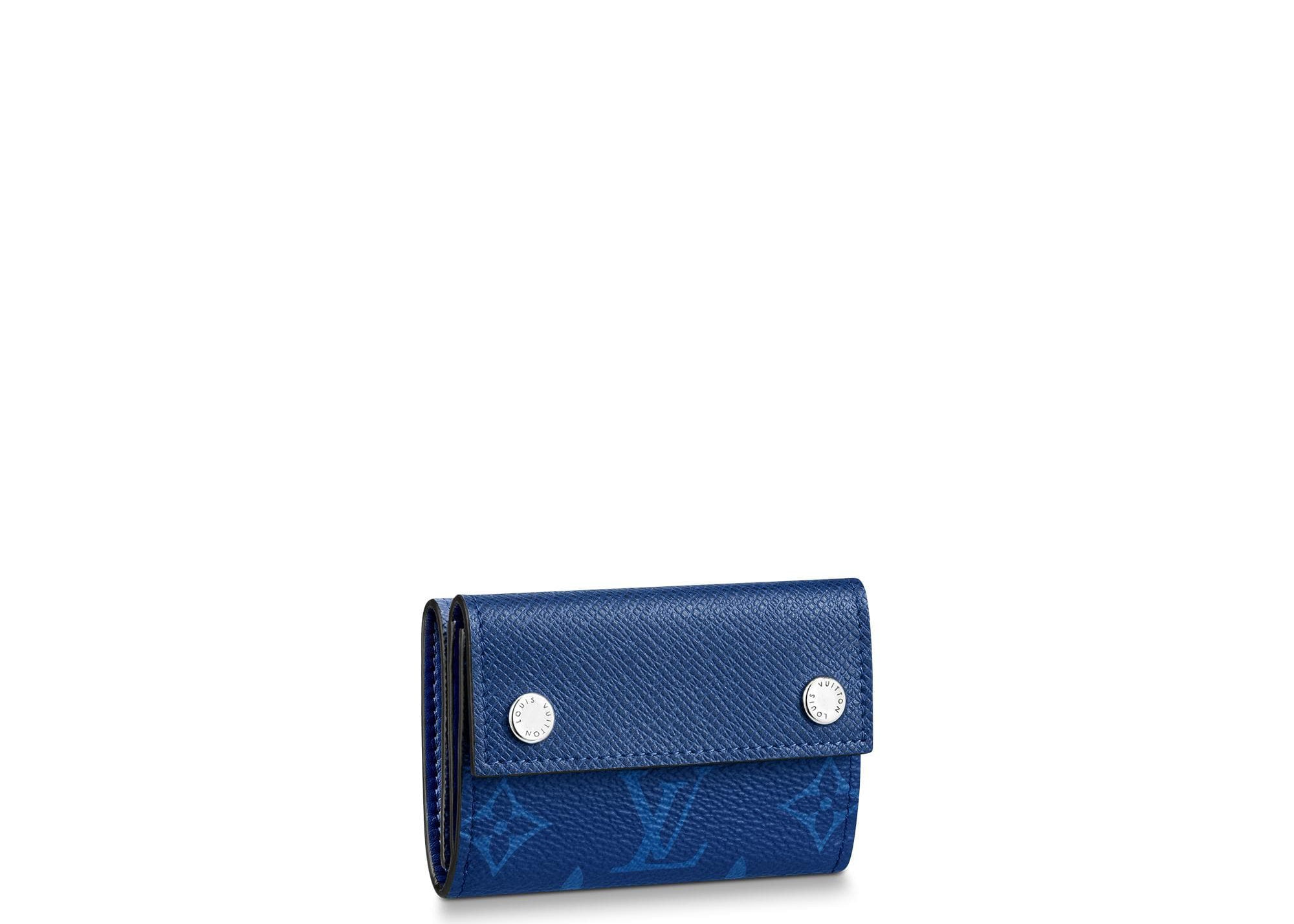Louis Vuitton Discovery Compact Wallet Monogram Pacific Taiga Blue