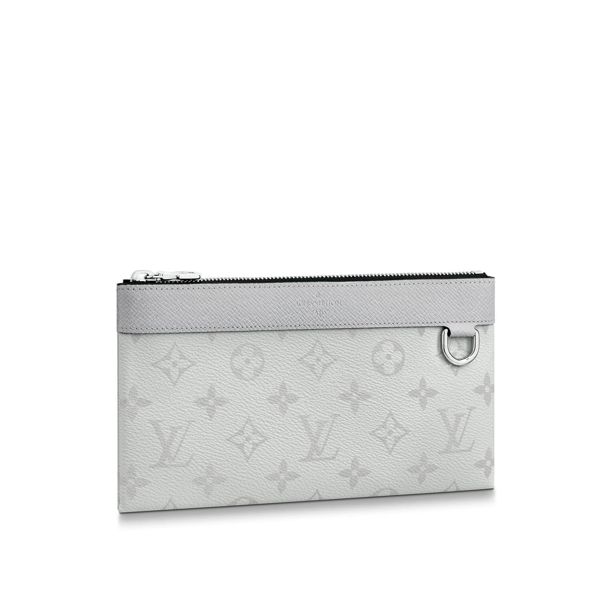 Louis Vuitton Discovery Pochette Monogram Antarctica Taiga PM White