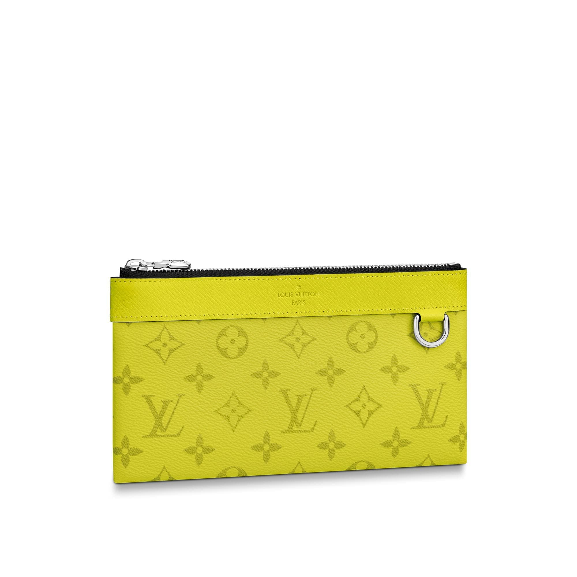 Louis Vuitton Discovery Pochette Monogram Bahia Taiga PM Yellow