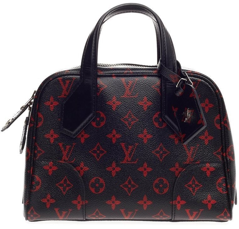Louis Vuitton Dora Soft Monogram Infrarouge BB Black Red