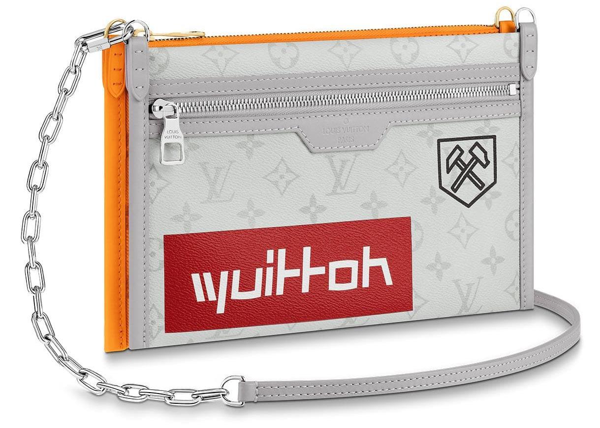 Louis Vuitton Double Flat Messenger Monogram Logo Story White/Orange