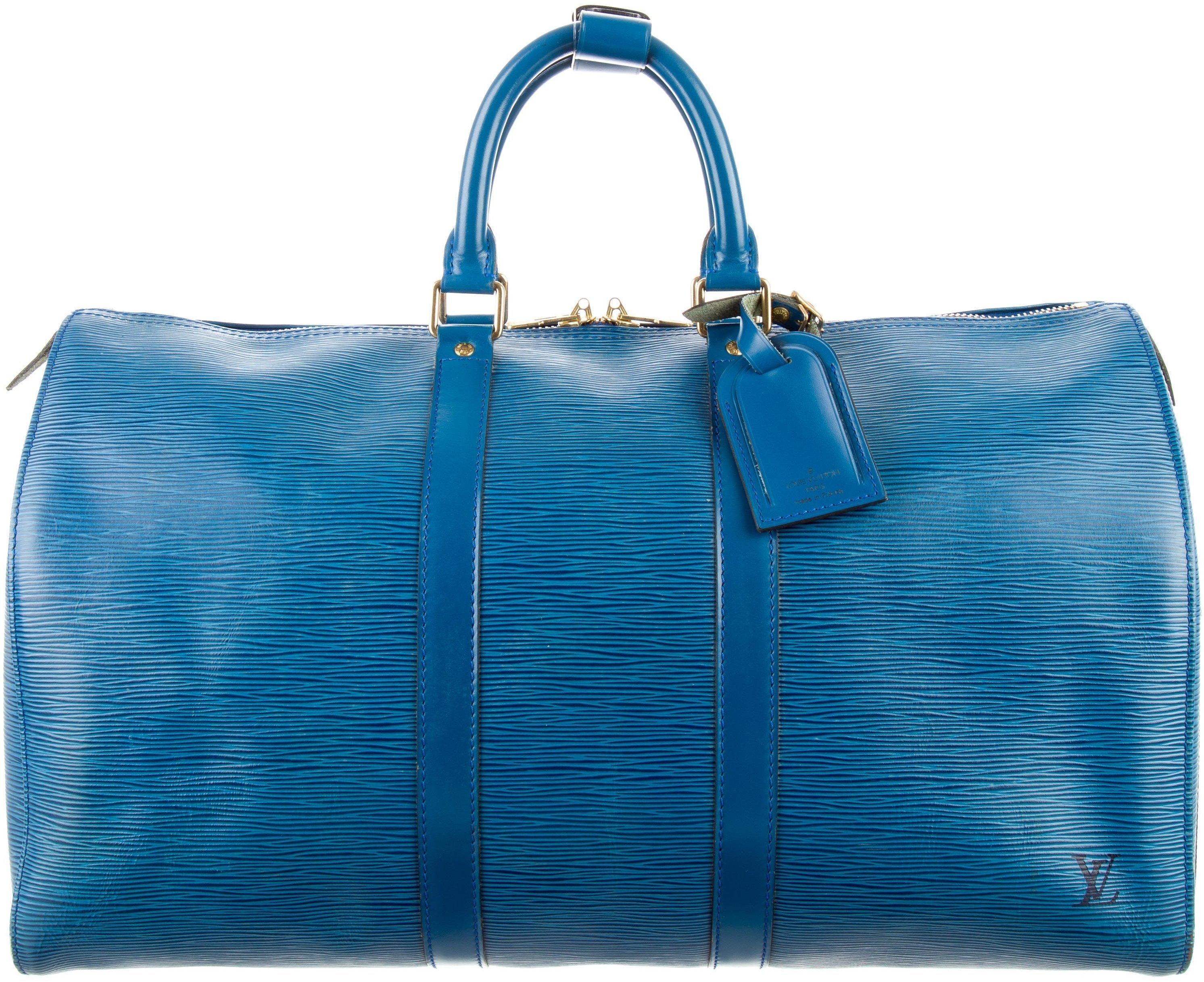Louis Vuitton Keepall (With Accesories) Epi 45 Cyan