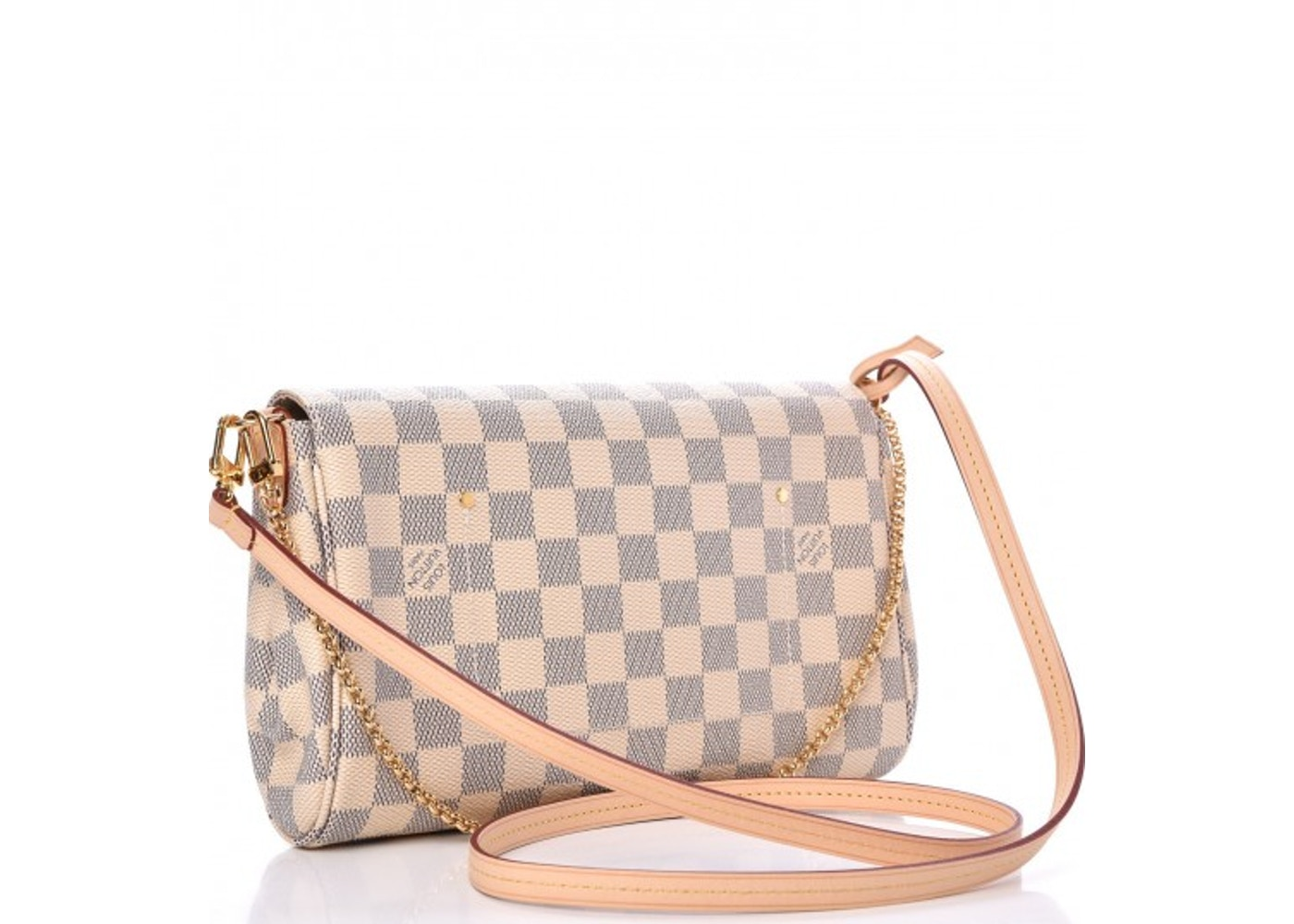 8ec138fb6cdf Louis Vuitton Favorite Damier Azur MM Ivorie Grey