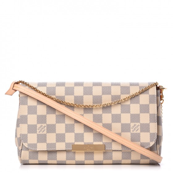 Louis Vuitton Favorite Damier Azur Mm White/Blue In Blue/White