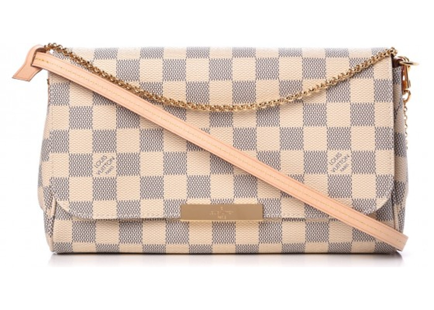 4689f5febab8 Louis Vuitton Favorite Damier Azur MM Ivorie Grey. Damier Azur MM Ivorie  Grey