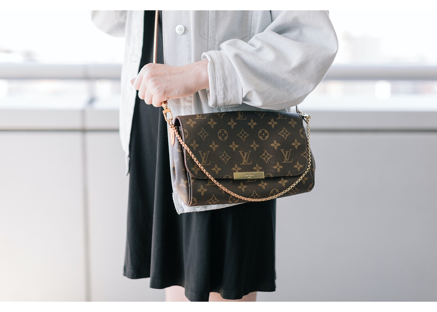0ad0f5e7 Louis Vuitton Favorite Monogram MM Brown Lining