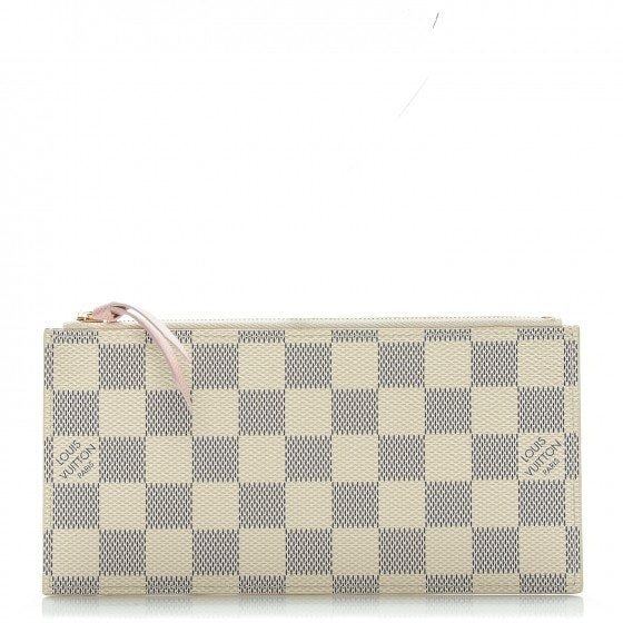 Louis Vuitton Chain Wallet Felicie Damier Azur Zippered Insert