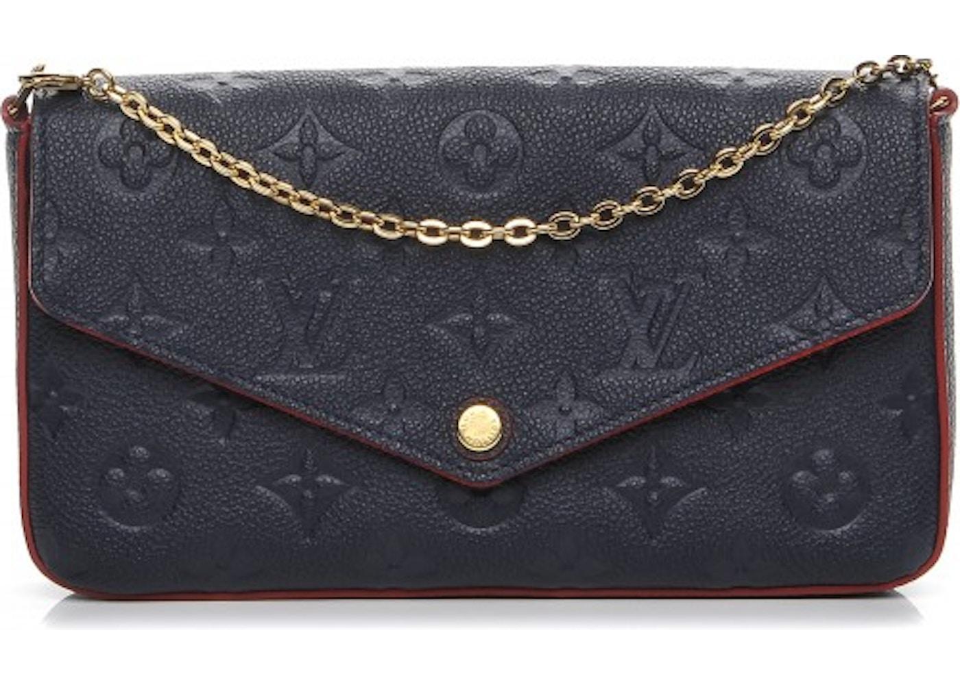560fc5114c8e Louis Vuitton Pochette Felicie Monogram Empreinte Marine Rouge. Monogram  Empreinte Marine Rouge