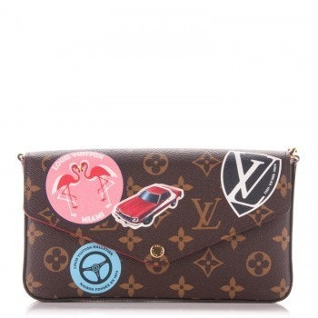 Louis Vuitton Felicie Pochette Monogram World Tour Brown