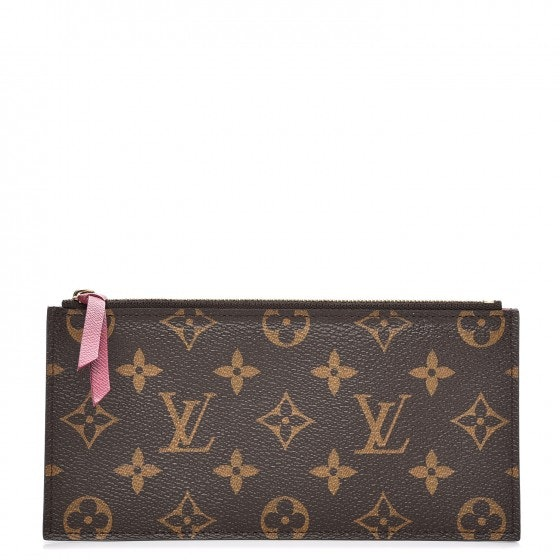 Louis Vuitton Chain Wallet Felicie Monogram Zippered Insert