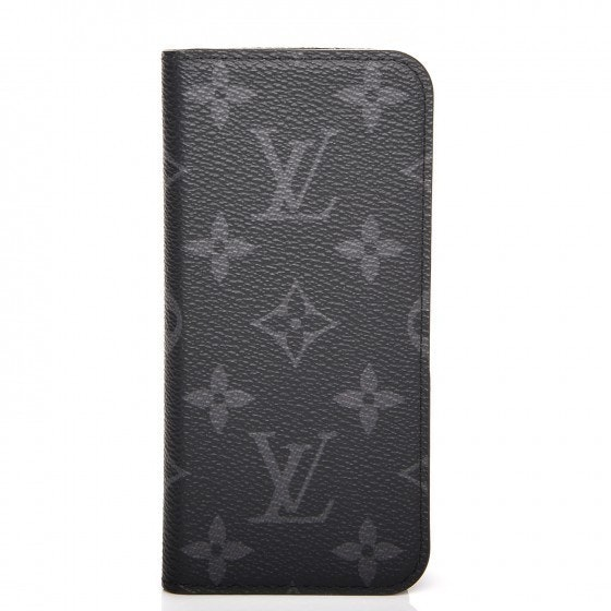 Louis Vuitton Folio Case Eclipse Monogram iPhone 7 Gray