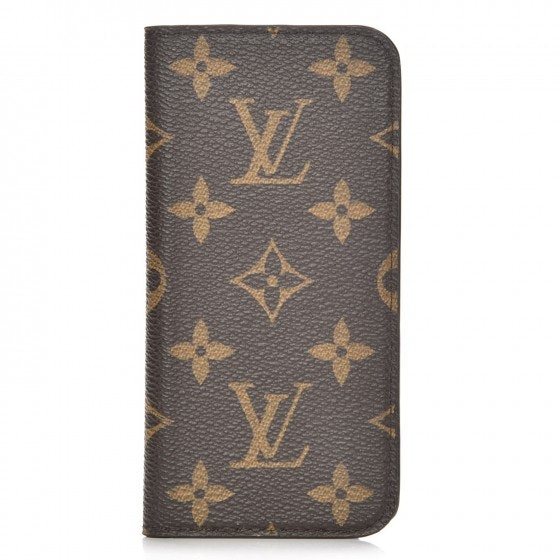 Louis Vuitton Folio Case Iphone 6 Monogram Brown