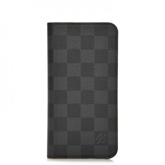 Louis Vuitton Folio Case Iphone 6 Plus Damier Graphite Black/Grey