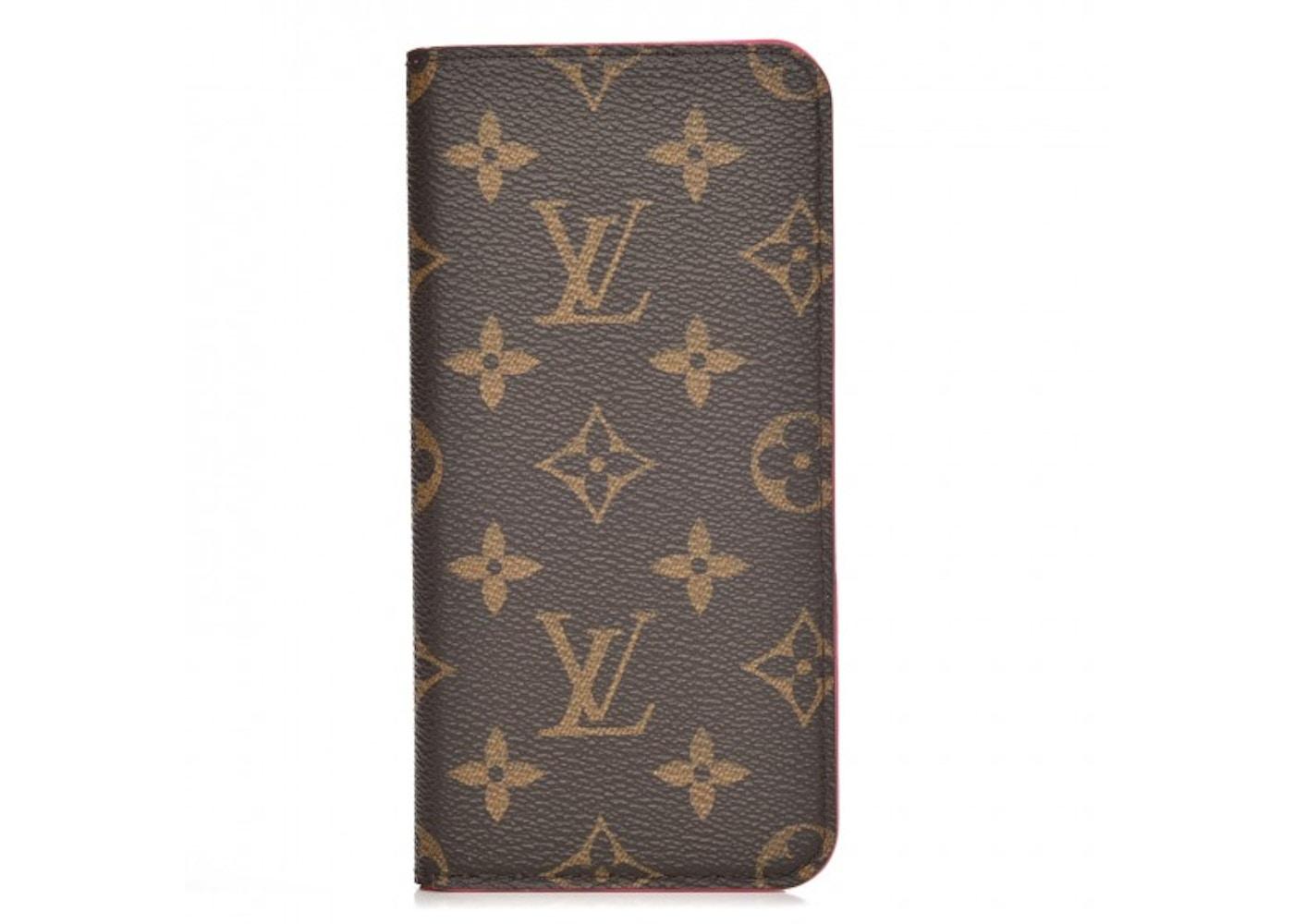6117f1ad86b Louis Vuitton Folio Case iPhone 6 Plus Monogram Pink