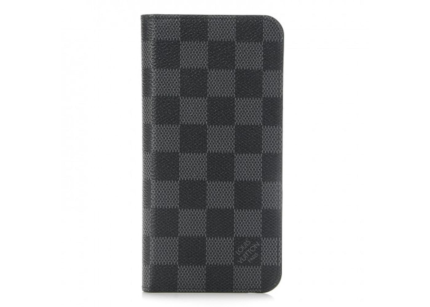 9a7ec2546c Louis Vuitton Folio Case iPhone 7/8 Plus Damier Graphite Black/Grey