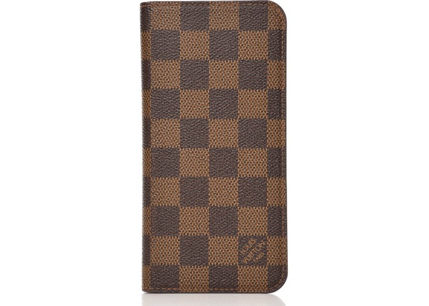 more photos d2c17 d9c36 Louis Vuitton Folio Case iPhone 7 Plus Damier Ebene Brown