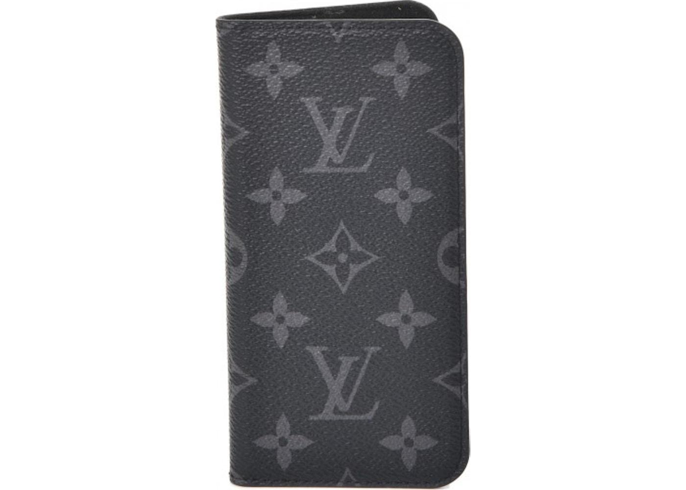 d06a83abf35 Louis Vuitton Folio Case iPhone X Monogram Eclipse Gray/Black