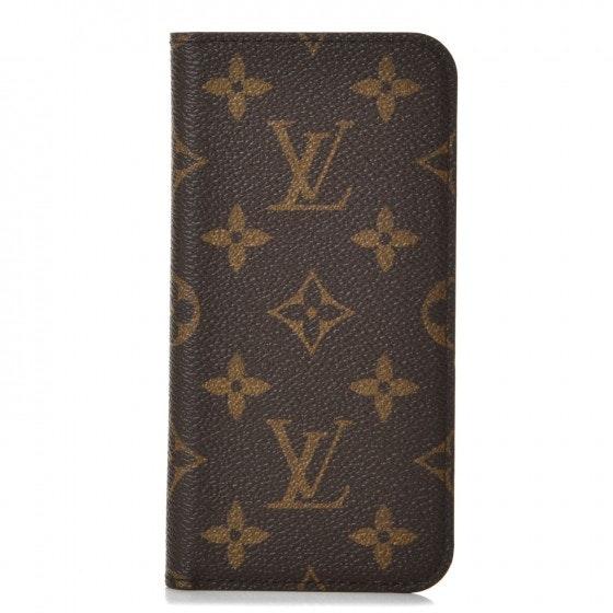 Louis Vuitton Folio Case Iphone X Monogram Brown