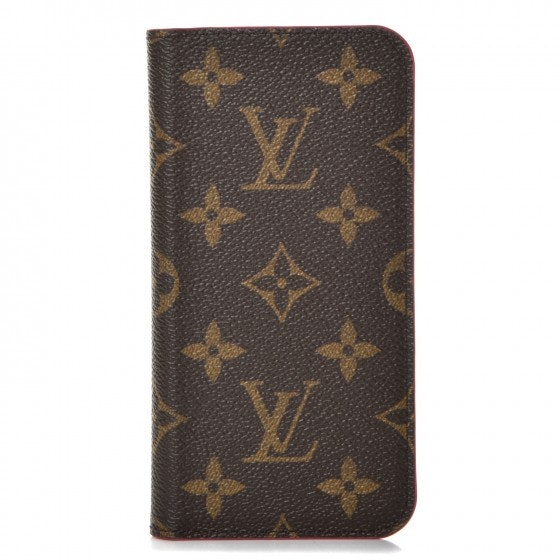 Louis Vuitton Folio Case iPhone X Monogram Rose Pop