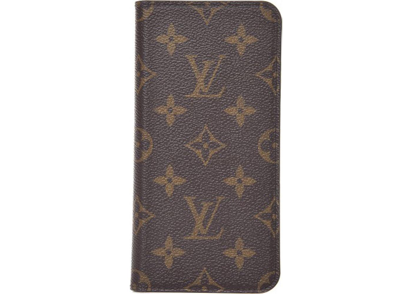 de2ee69f09 Louis Vuitton Folio Case iPhone 7/8 Plus Monogram Brown