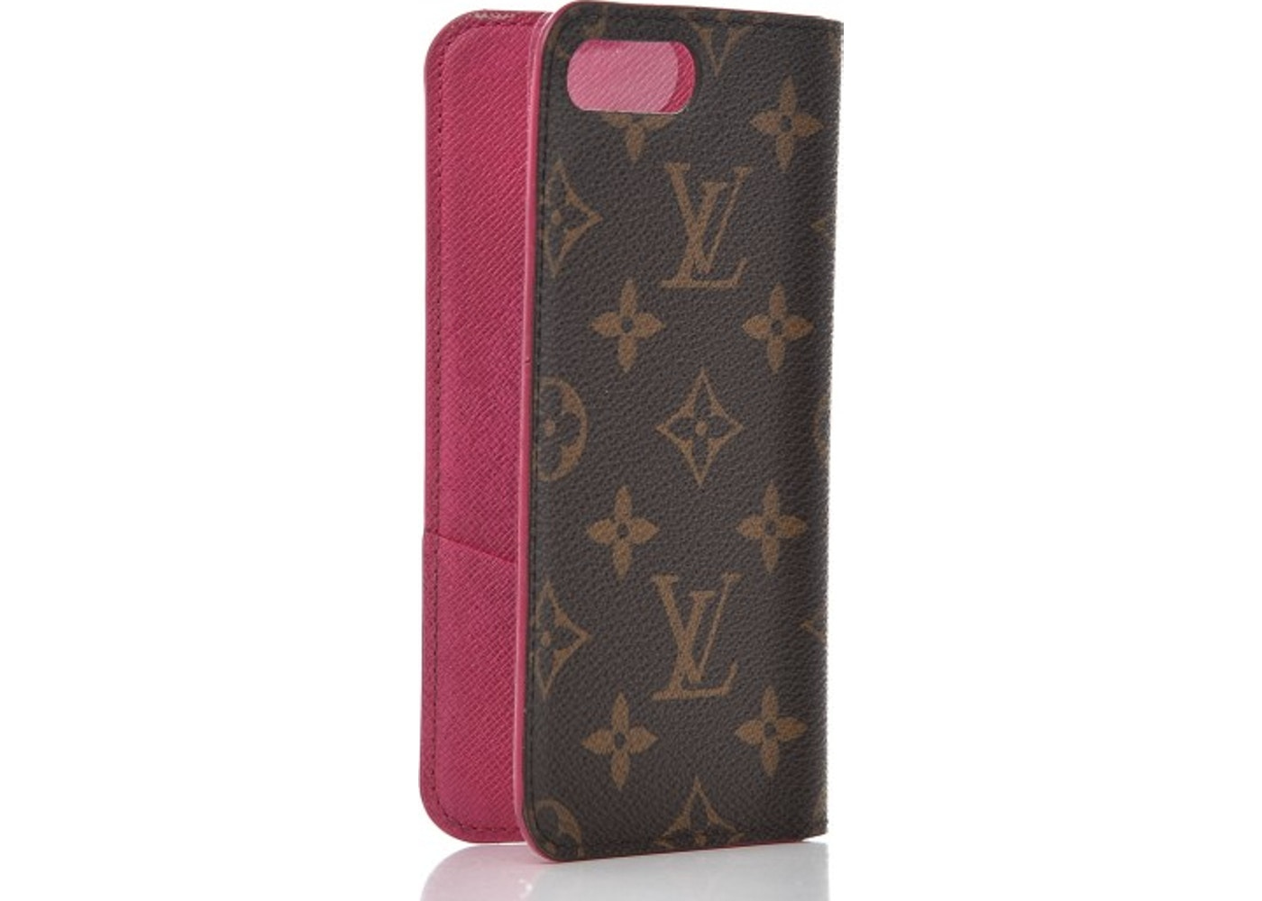 finest selection 57652 a017a Louis Vuitton Folio Case iPhone 7/8 Plus Monogram Rose Pink