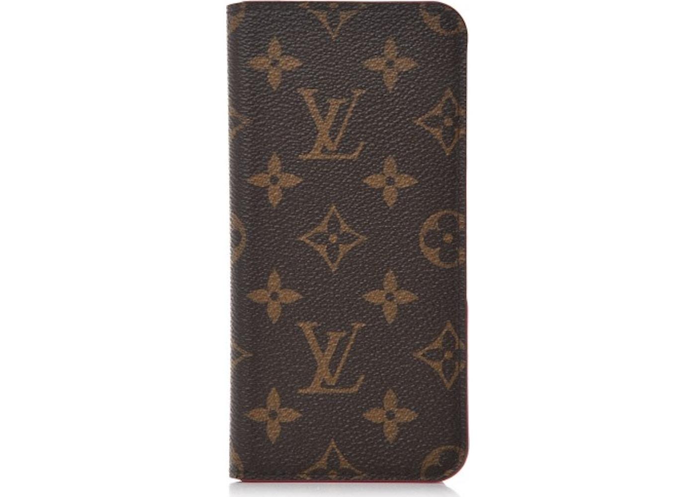 finest selection 9ed11 2b7b0 Louis Vuitton Folio Case iPhone 7/8 Plus Monogram Rose Pink