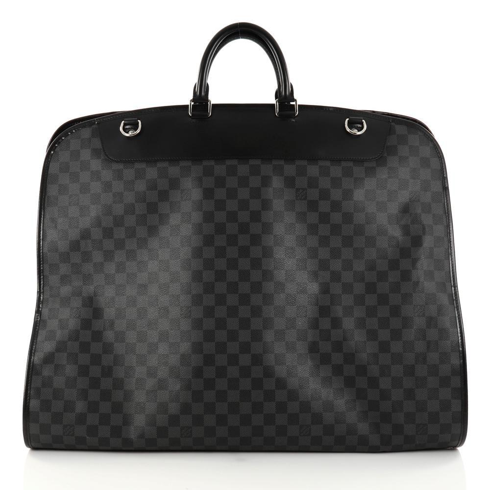 Louis Vuitton Garment Cover 2 Hangers Damier Graphite Black/Grey