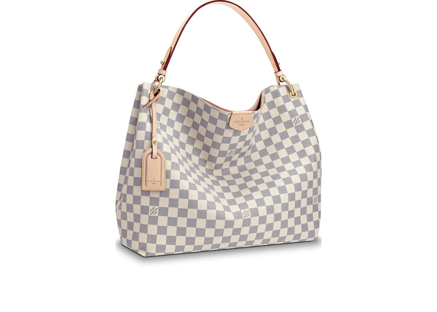 Louis Vuitton Graceful Damier Azur Mm Rose Ballerine