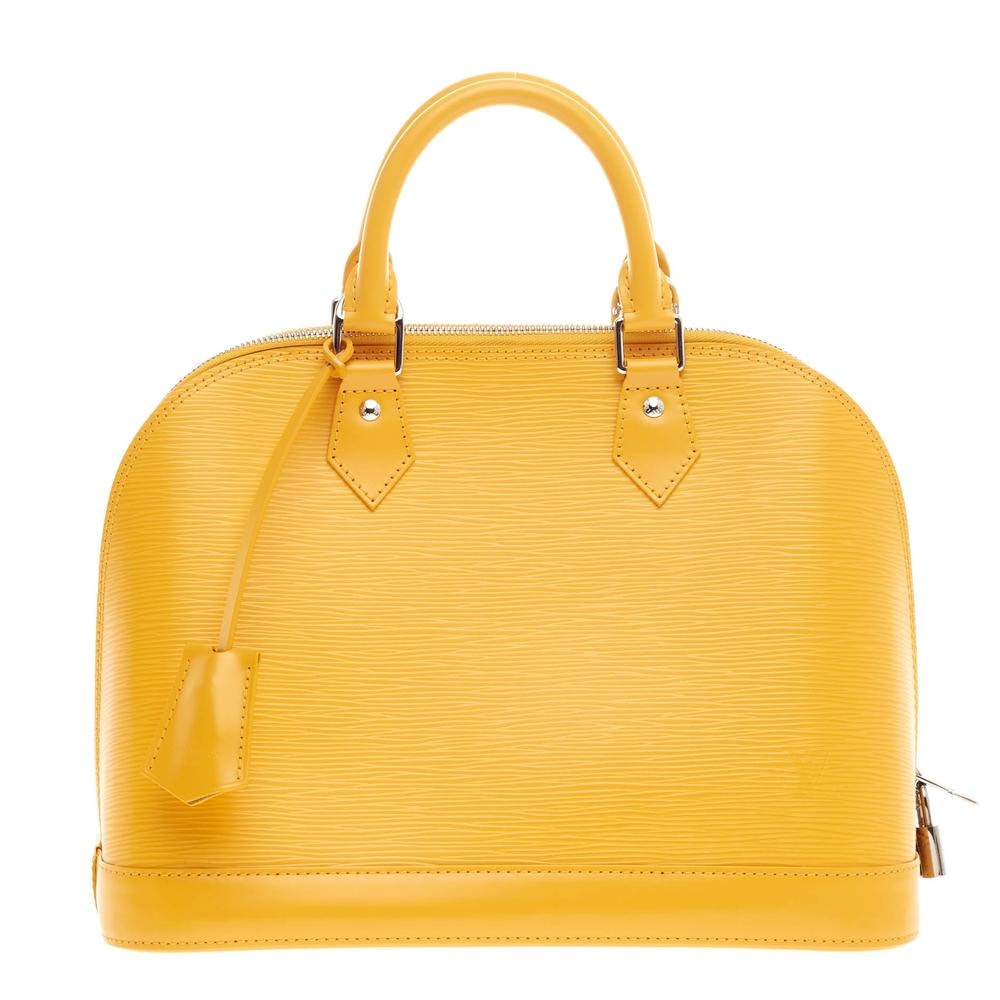 Louis Vuitton Handbag Alma Epi PM Citron Yellow